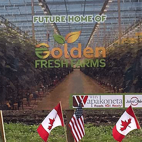 Golden Presh Farms sign