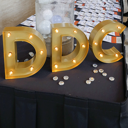 DDC letters with lights